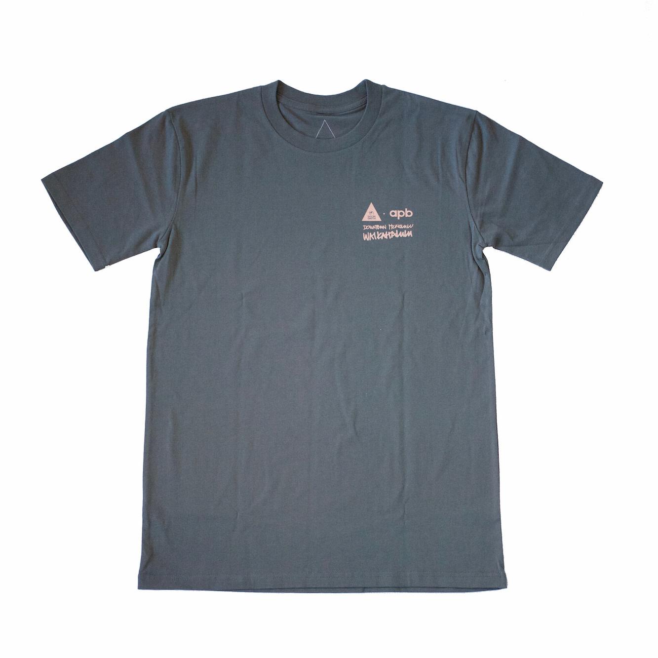 APB Skateshop Waikahalulu Sig Zane X APB Charcoal T-Shirt