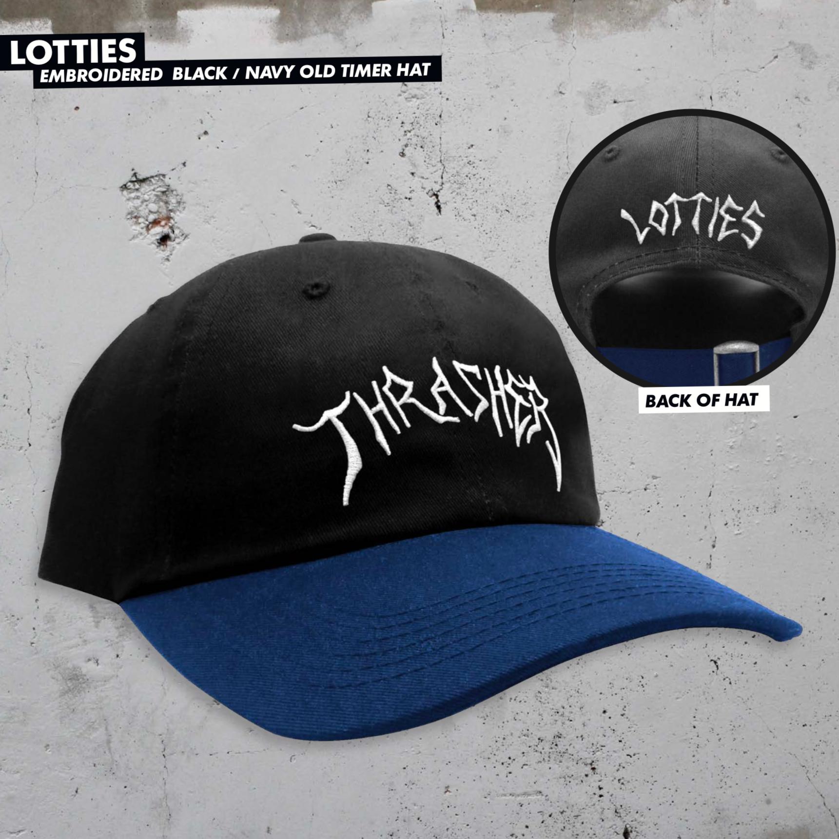Thrasher Mag. Lotties Old Timer Hat Black/Navy