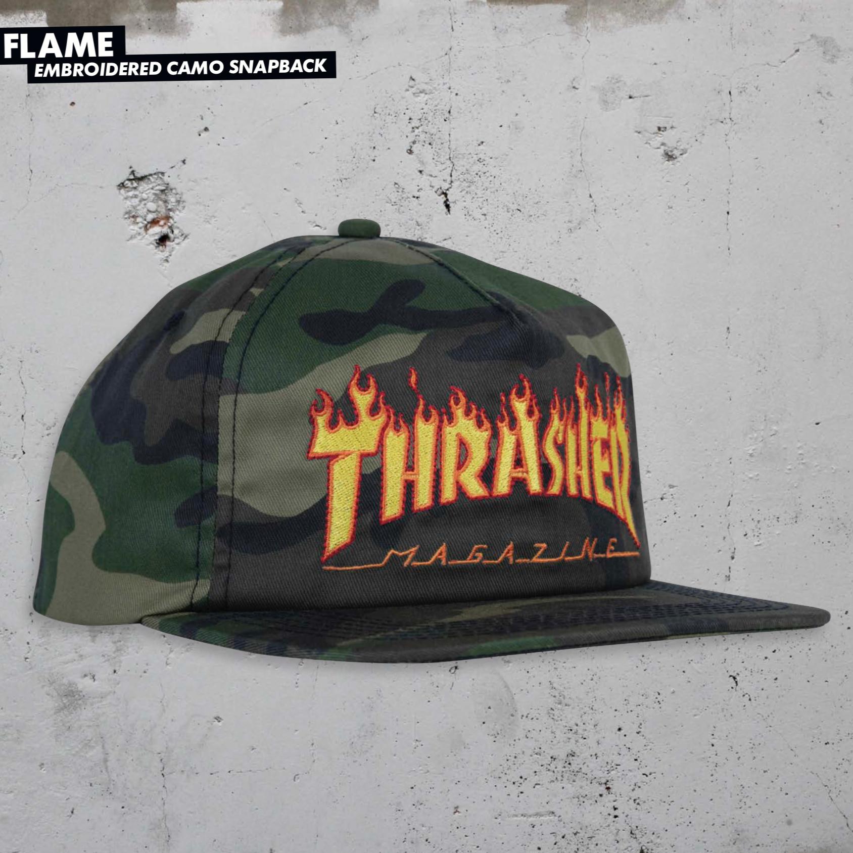 Thrasher Mag. Flame Snapback Camo