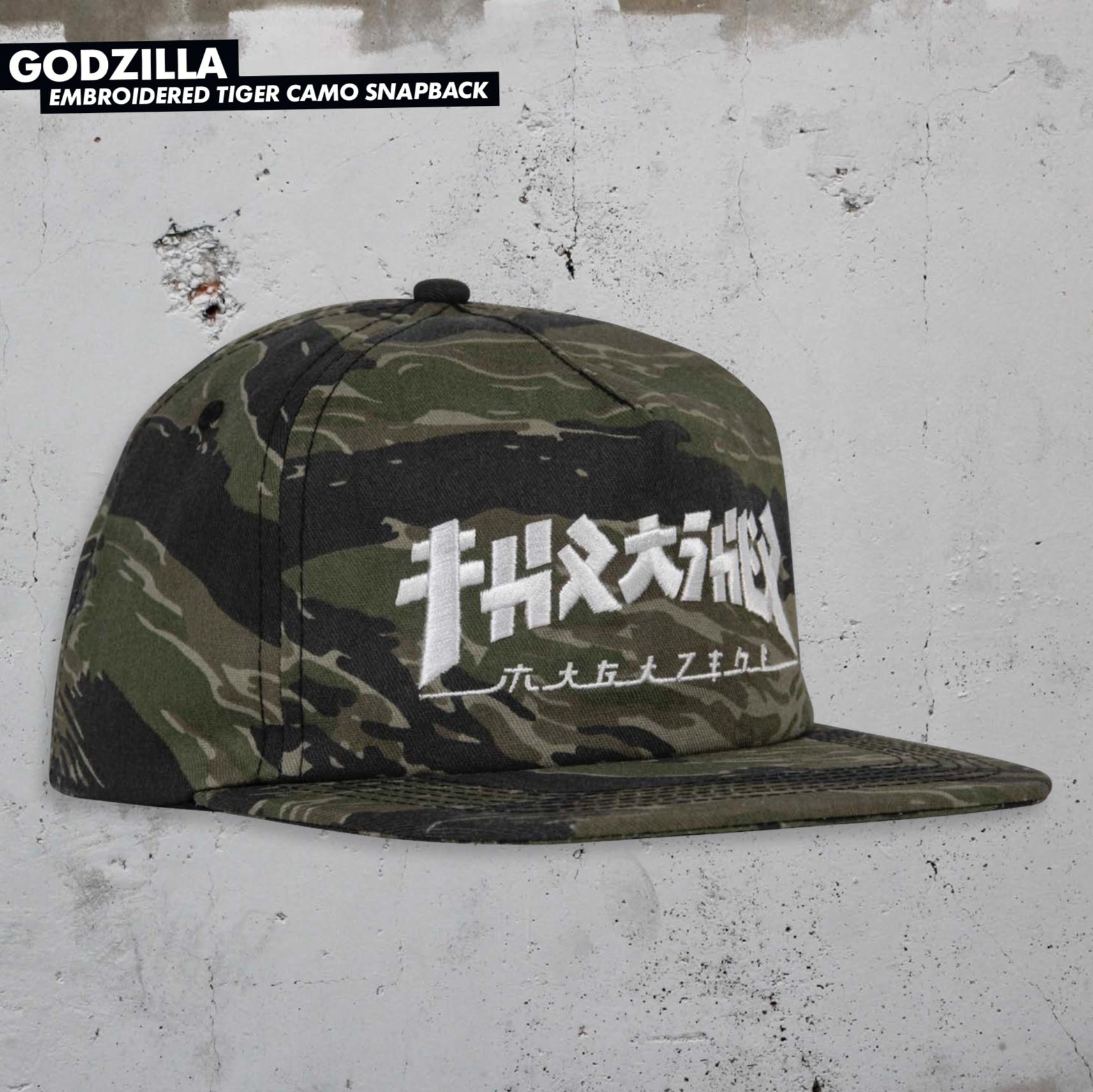 Thrasher Mag. Godzilla Snapback Tiger Camo