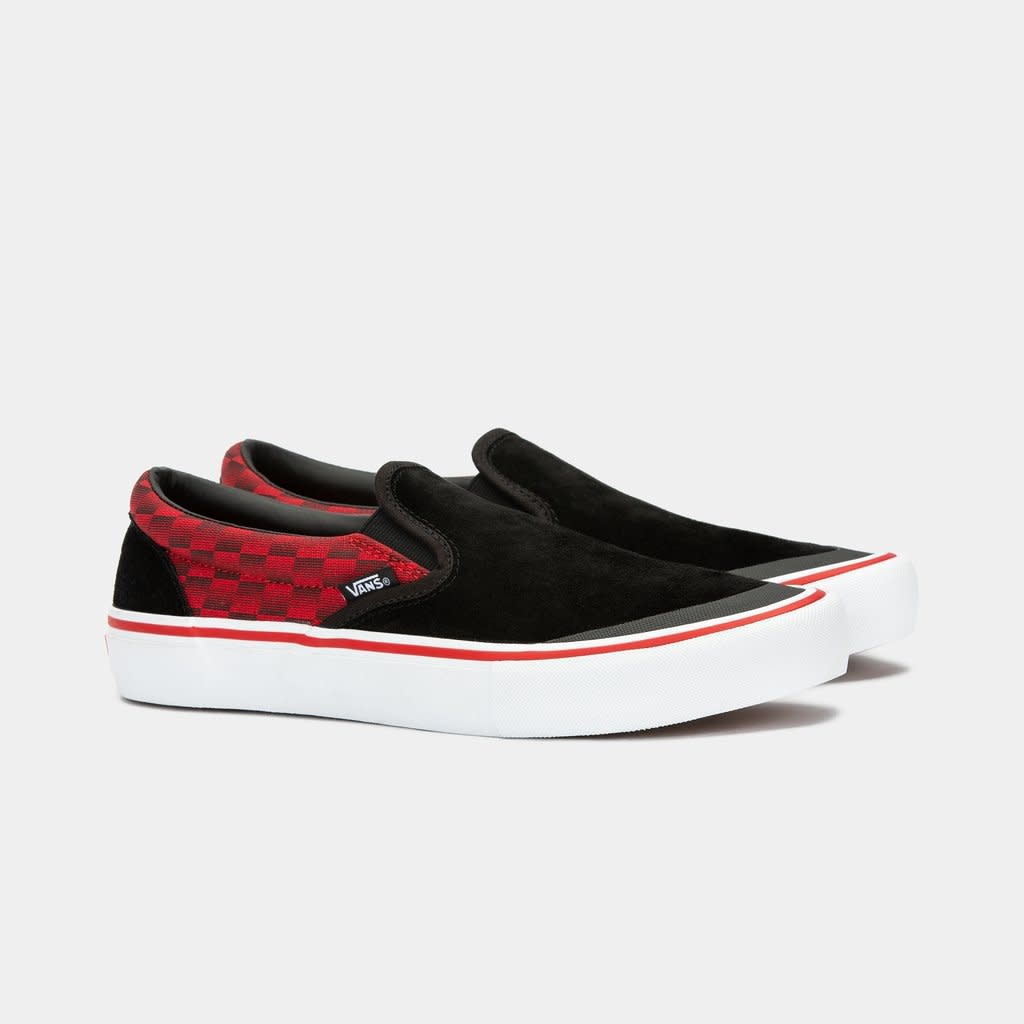Vans Shoes Slip On Pro x Baker Rowan Black/Red