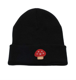Stingwater Mushroom Patch Black Beanie