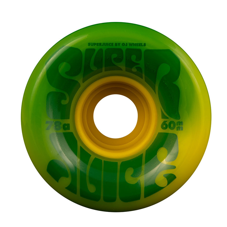 OJ Wheels Super Juice Green/Yellow Swirl 60mm 78a