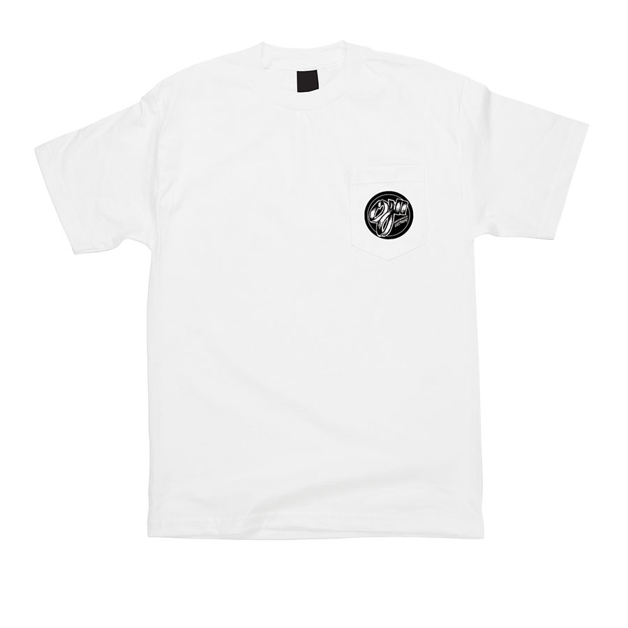 OJ Wheels OJ Speedwheels Pocket Tee White
