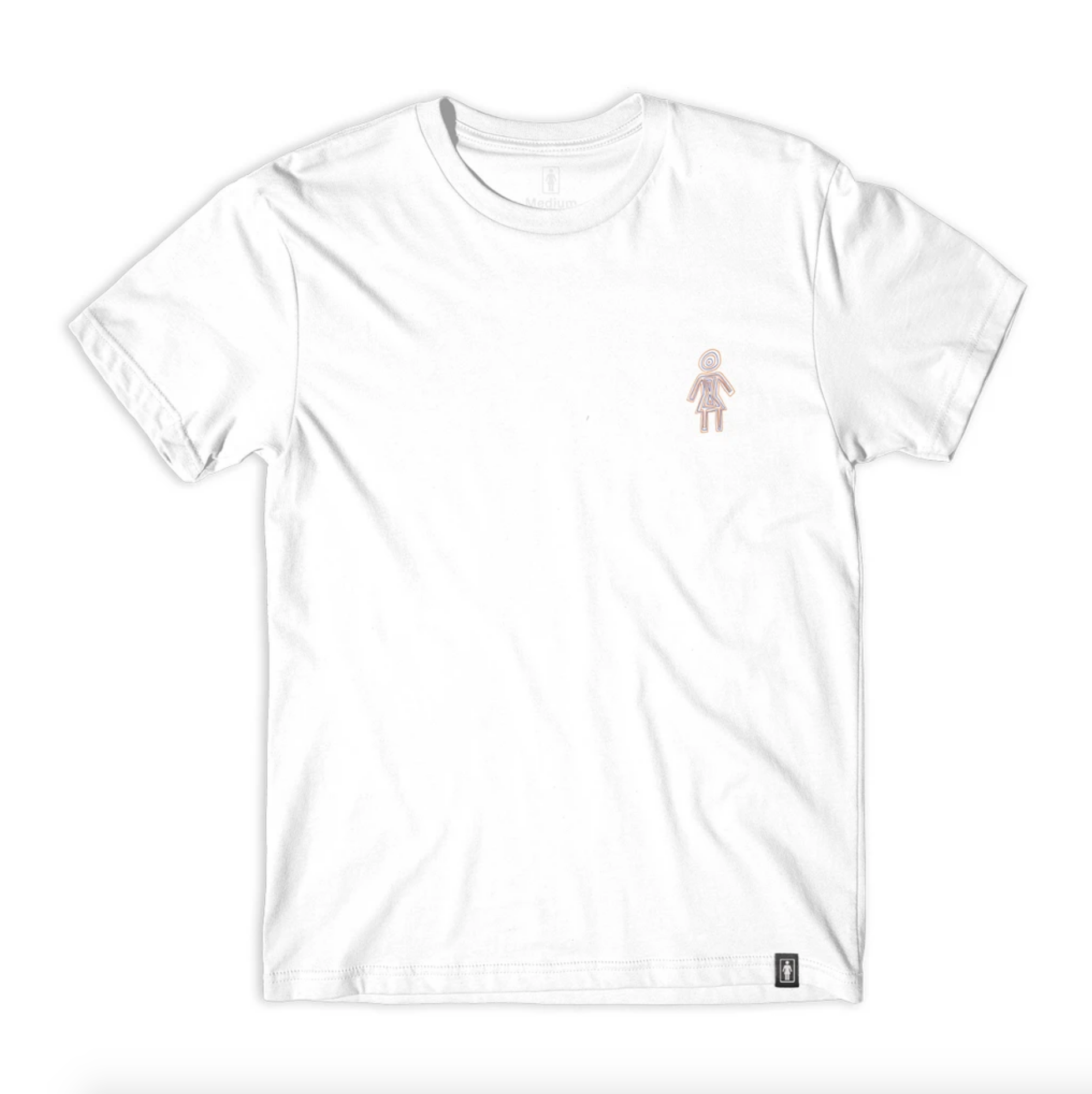 Girl Skateboard Company Visualize OG Tee White