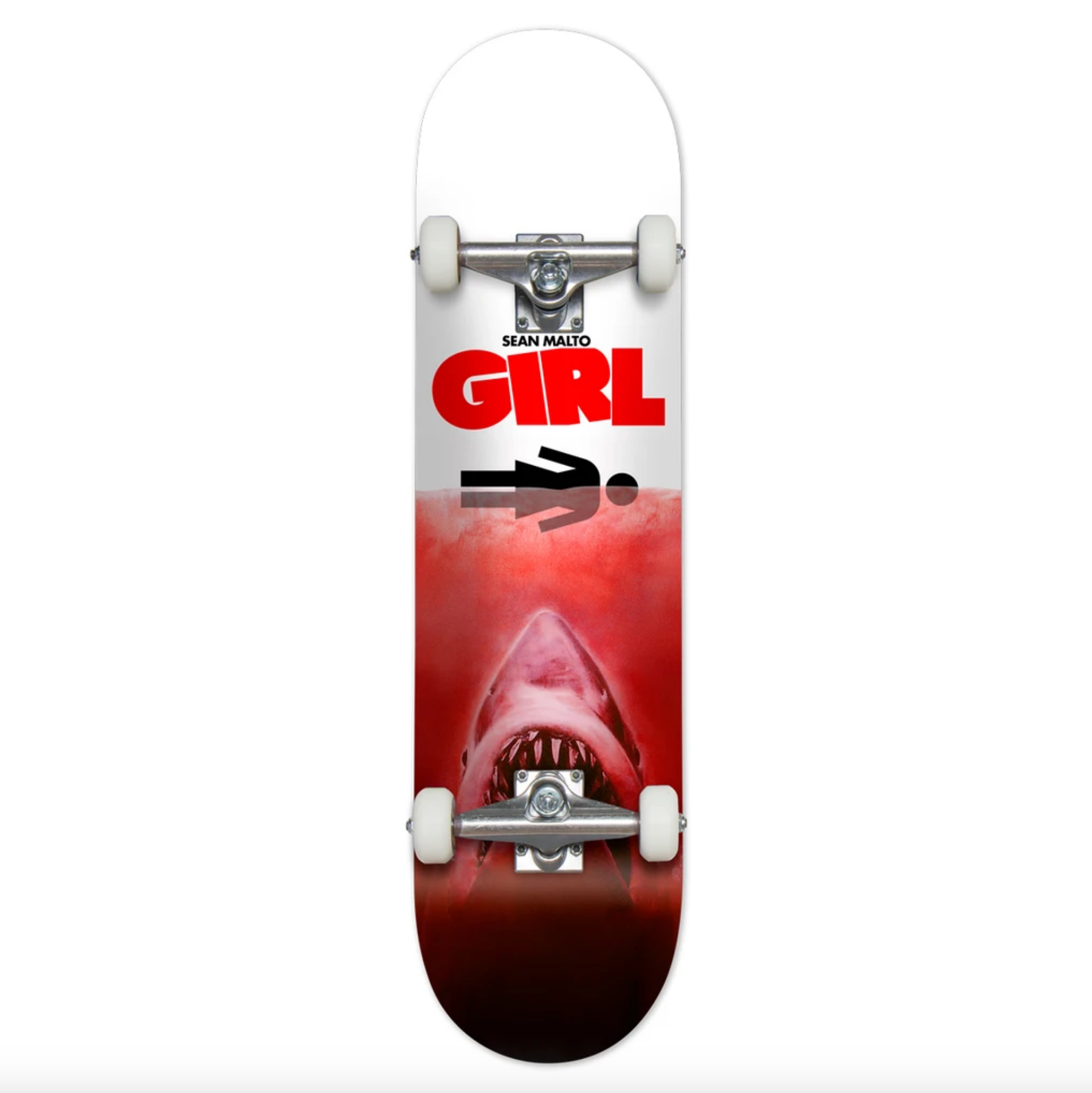 Girl Skateboard Company Malto Shark Attack Red Complete 7.5""