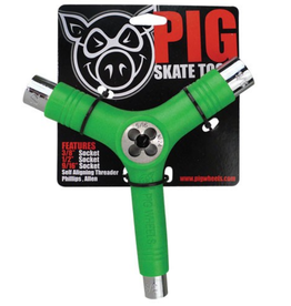 Pig Wheels Pig Tri-Socket Threader Green Tool
