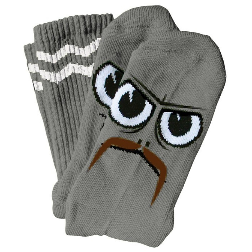 Toy Machine Turtleboy Stache Grey Sock