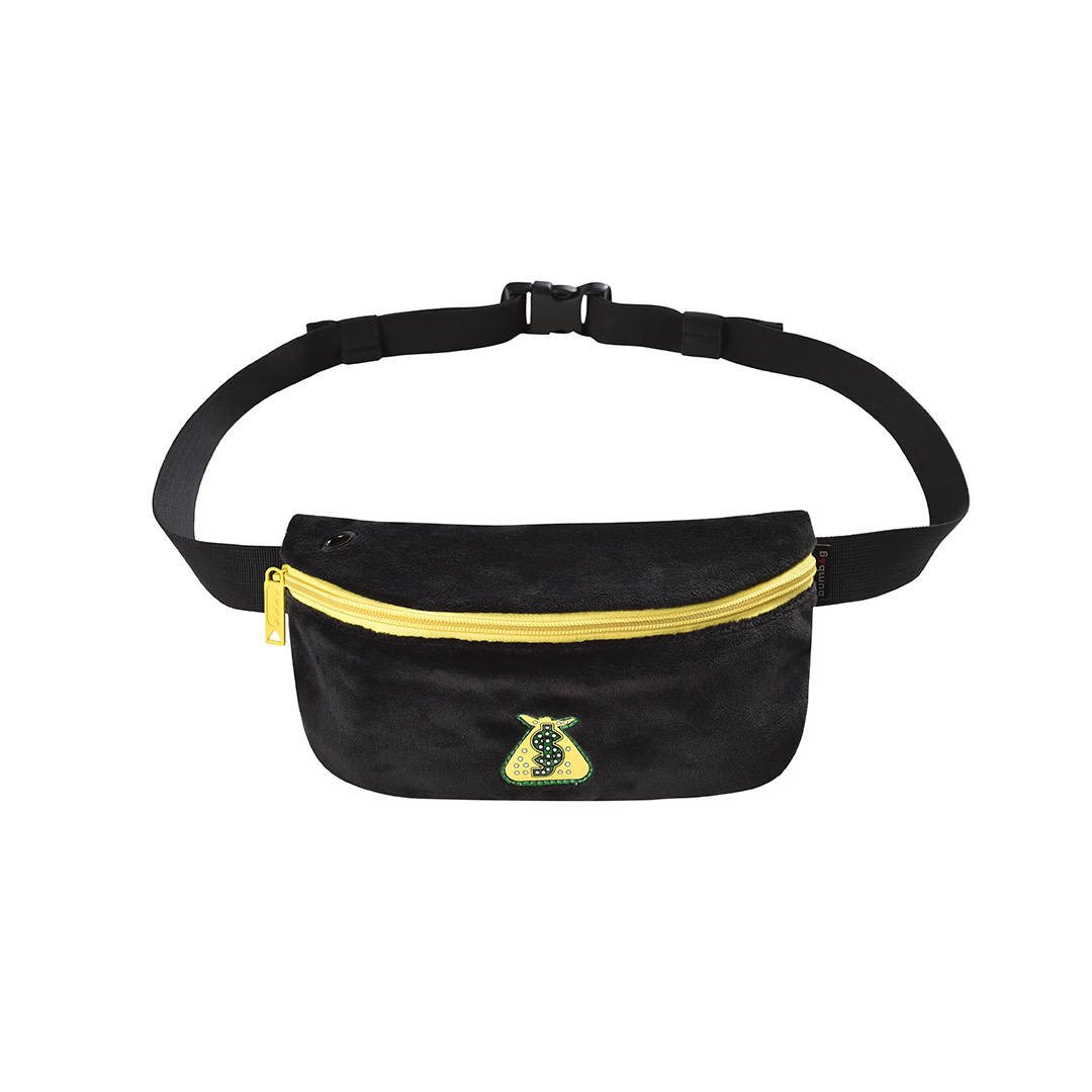 Bum Bag Shake Junt Pouch Hip Pack Black
