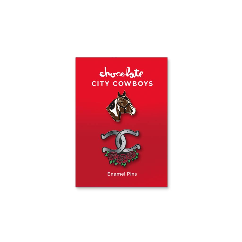 Chocolate Skateboards Chocolate City Cowboys Pin Set