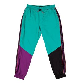 Welcome Skateboards Athlete Woven Nylon Wind Pant Teal/Black/Purple