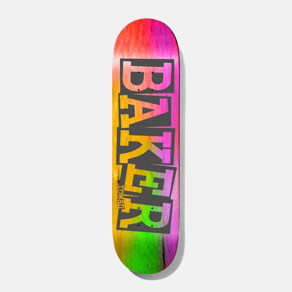 "Baker Skateboards RZ Ribbon Name Rainbow 8.38"""
