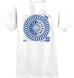 Spitfire Wheels Spitfire Underground Swirl Tee White/Blue