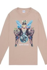 Fucking Awesome Winged Woman L/S Tee Khaki