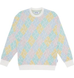 Fucking Awesome Monogram Sweater White/Pink/Blue Size L