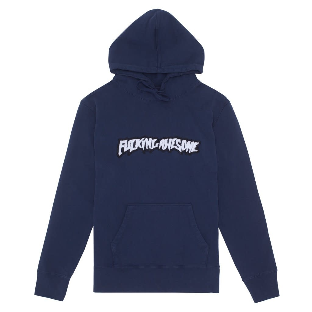 Fucking Awesome Garment Dyed Chenile Logo Hood Navy