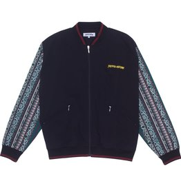 Fucking Awesome Pattern Sleeve Track Jacket Black