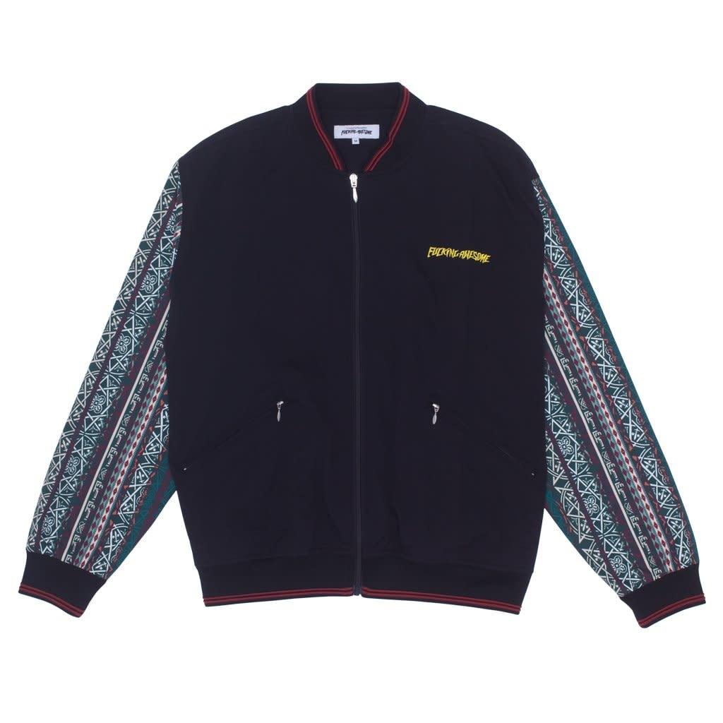 Fucking Awesome Pattern Sleeve Track Jacket Black