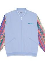Fucking Awesome Pattern Sleeve Track Jacket Light Blue