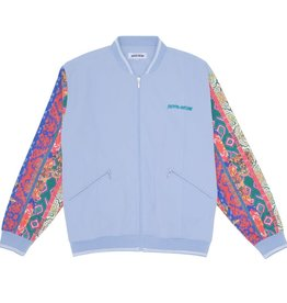 Fucking Awesome Pattern Sleeve Track Jacket Light Blue
