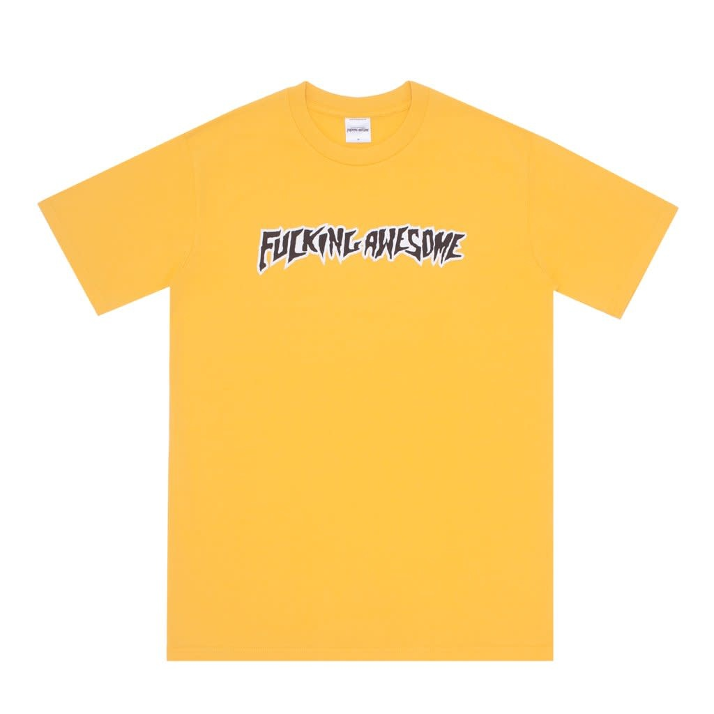 Fucking Awesome Puff Outline Logo Tee Gold