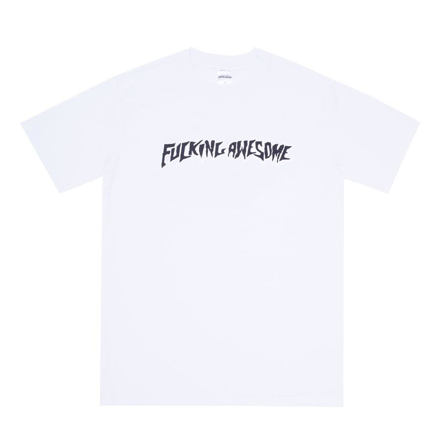 Fucking Awesome Puff Outline Logo Tee White