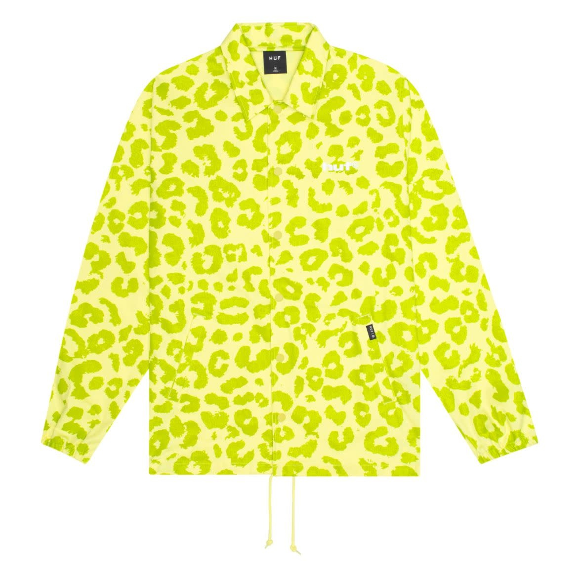 HUF Neo Leopard Coach Jacket Hot Lime