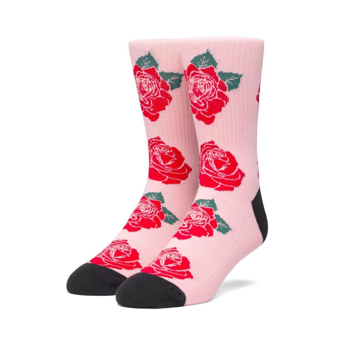 HUF Rose Socks Coral Pink