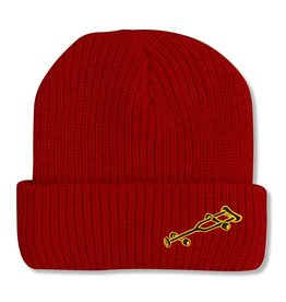 Black Label OG Crutch Beanie Blood Red