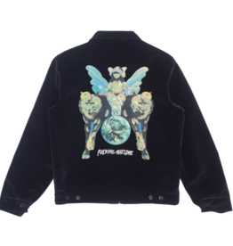 Fucking Awesome Winged Women Velvet Work Jacket Black