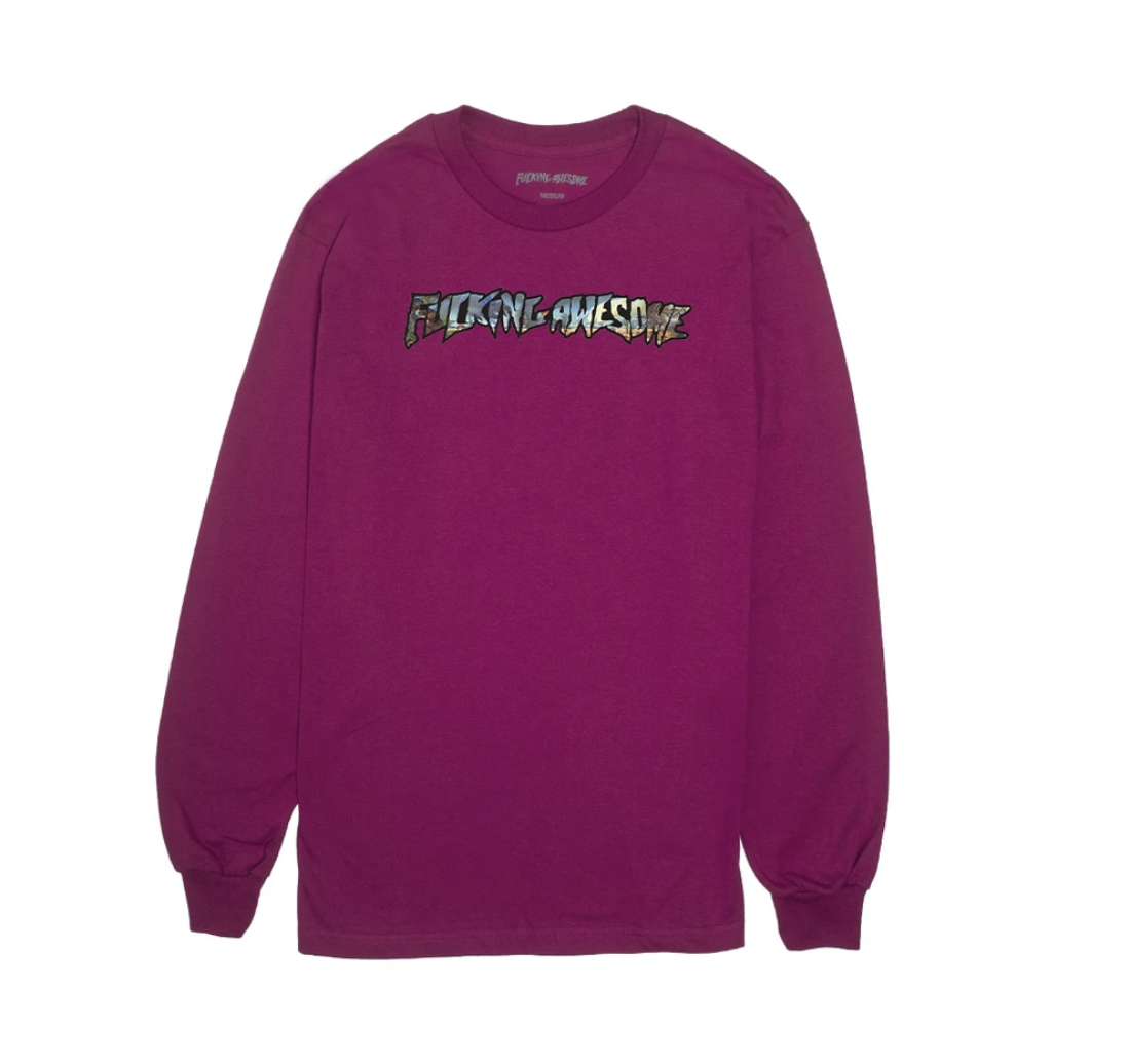 Fucking Awesome Extinction L/S Boysenberry