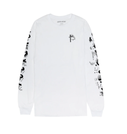 Fucking Awesome Block Letter L/S White