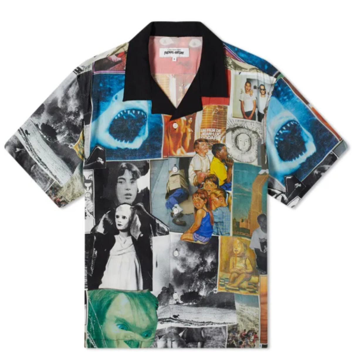 Fucking Awesome Collage 2 Club Shirt Black/White