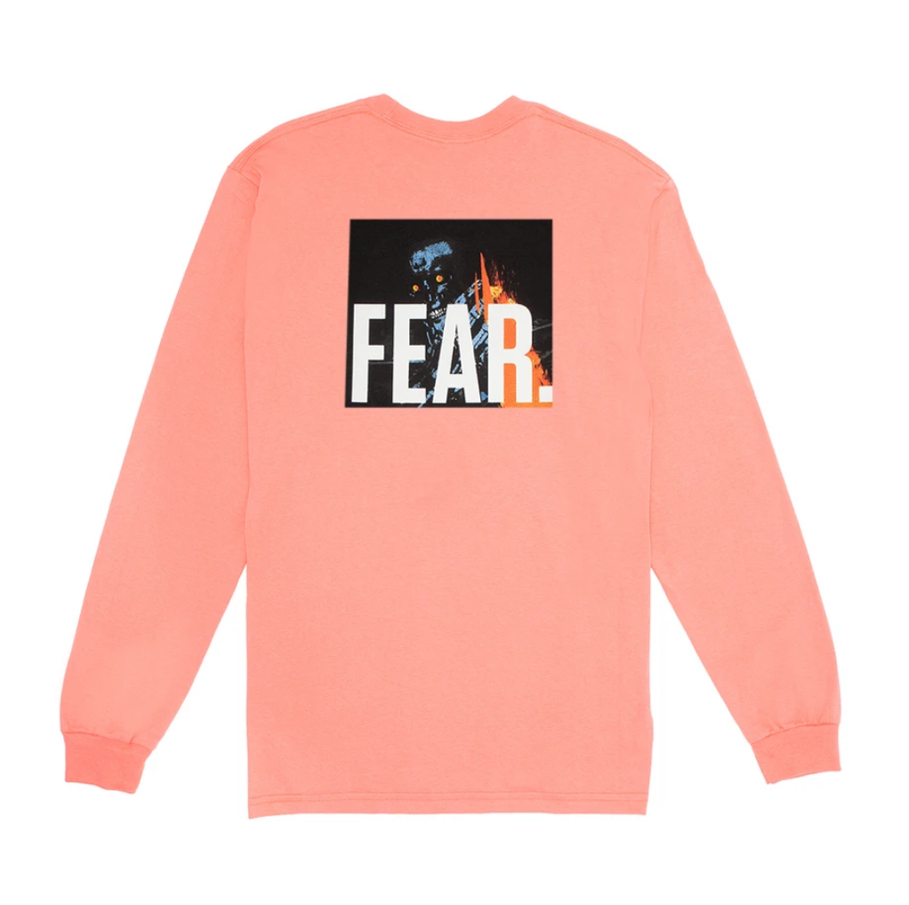 Fucking Awesome Fear L/S  Coral Silk