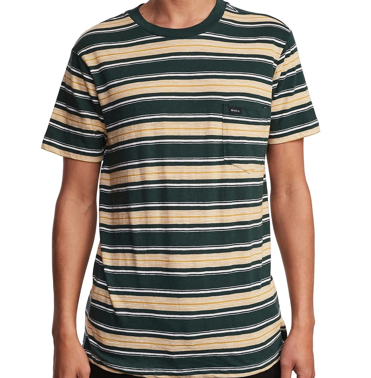 RVCA Hank Stripe S/S Green/Yellow