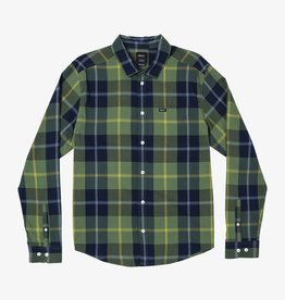 RVCA Opaki Plaid L/S Green