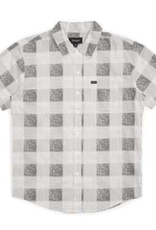 Brixton Charter Plaid S/S White/Black