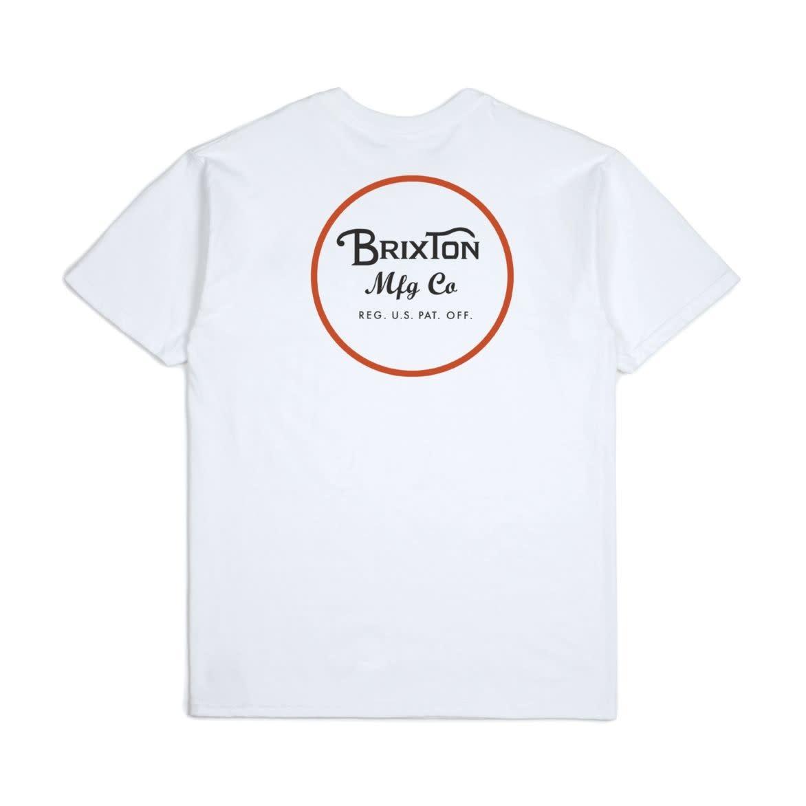 Brixton Wheeler ll Tee White/Black/Red