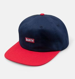 Baker Skateboards Brand Logo Navy/Red Snapback