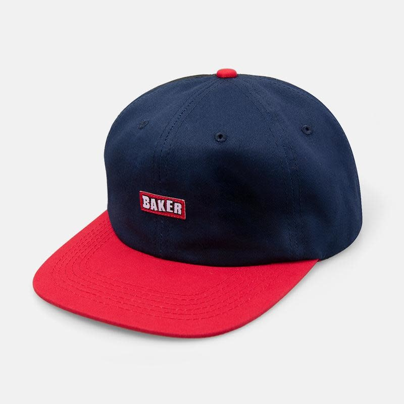 Baker Skateboards Brand Logo Navy/Red Snapback