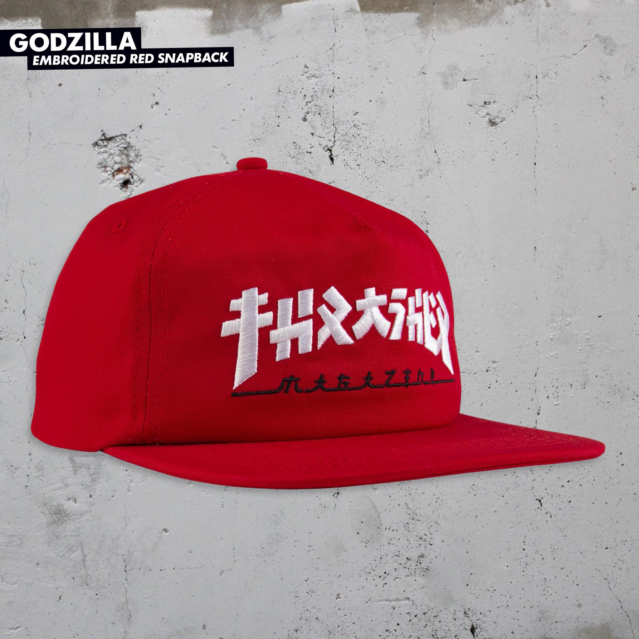 Thrasher Mag. Godzilla Snapback Red