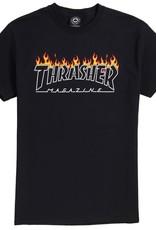 Thrasher Mag. Scorched Outline Black