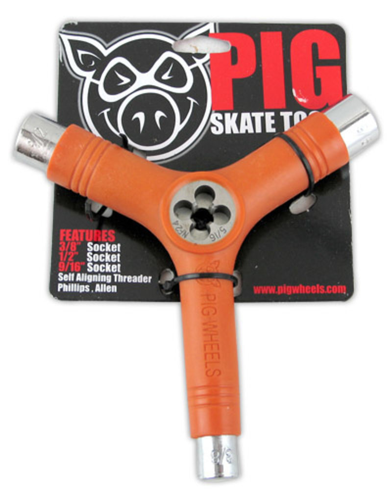 Pig Wheels Pig Tri-Socket Threader Orange Tool