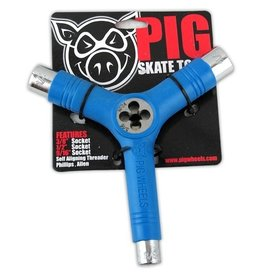 Pig Wheels Pig Tri-Socket Threader Blue Tool