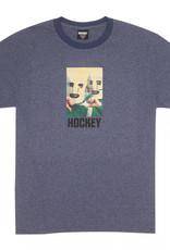 Hockey Baghead Ringer Tee Heather/Navy