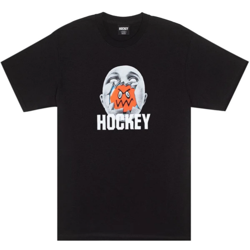 Hockey Broken Face Tee Black