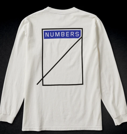 Numbers Edition Logotype L/S White
