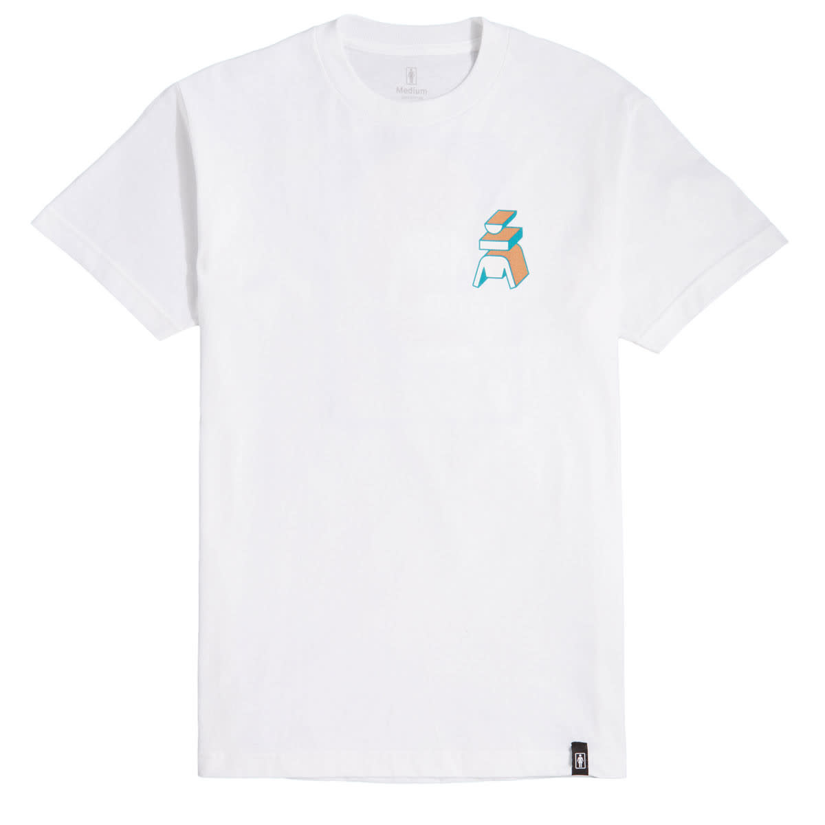 Girl Skateboard Company Girl Totem White Tee