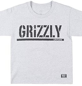Grizzly Griptape Stamp Youth Heather Tee