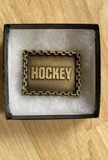 Hockey Hockey Belt Buckle Brass